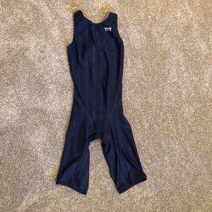 TYR Women's Fusion Open Back Kneeskin Tech Suit